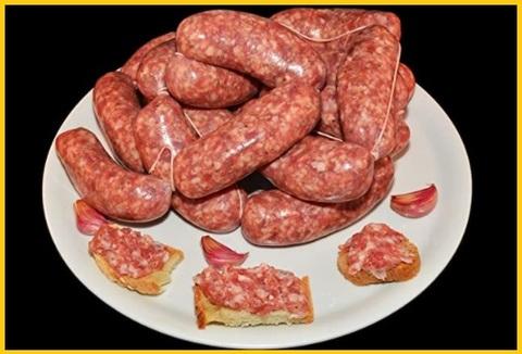 Carne bovina fresca salsiccia