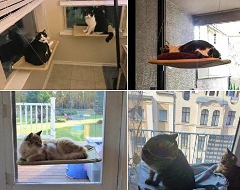 Amaca per gatti da finestra