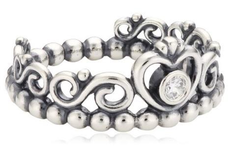 Anello pandora in argento con brillantino