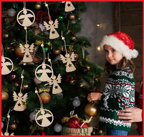 Decorazioni Natalizie Angeli In Legno