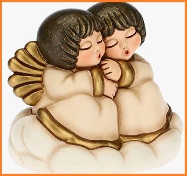 Statuina Angeli Coppia Per Natale