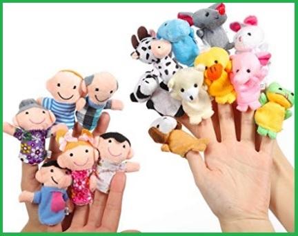 Animali e pupazzi 16 pezzi