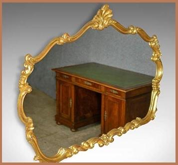 Specchio cornice in legno dorata