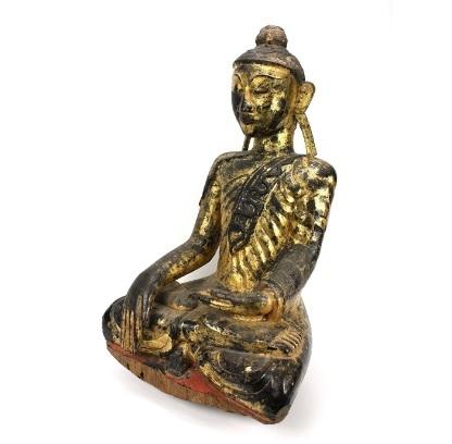 Statuetta birmano antico lanna antiquariato