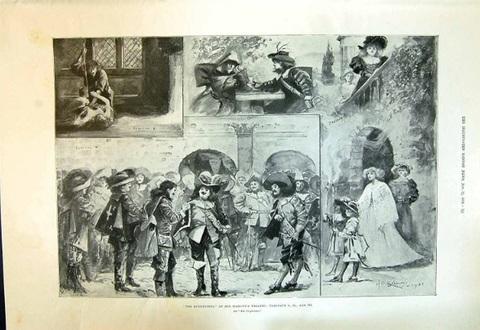 Stampa 1898 oggetto d'antiquariato quadri del teatro