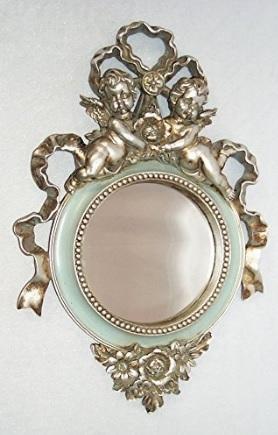 Specchio Barocco Con Angeli Oggetto D'antiquariato