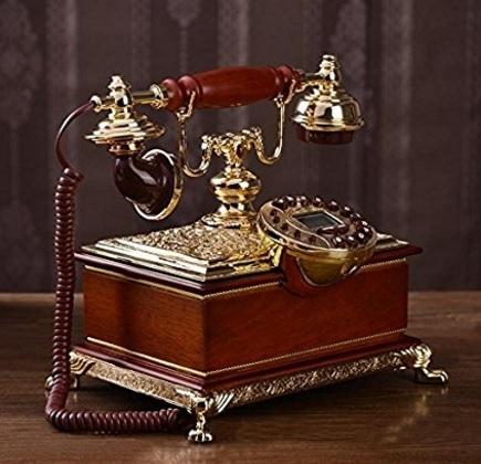 Telefono fisso vecchio stile famiglia continentale