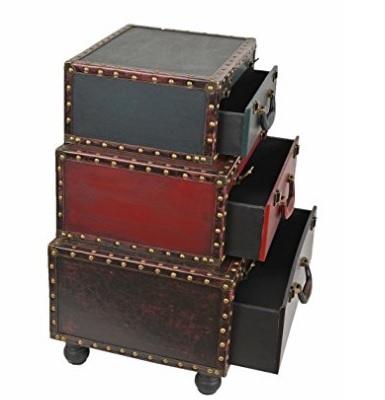 Mobiletto vintage con 3 cassetti stile retrò