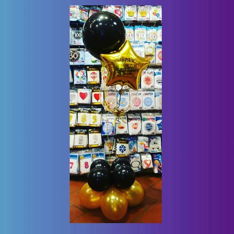 Decorazione Di Palloncini Nero E Oro