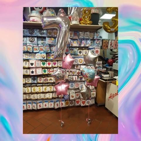 Decorazione Di Palloncini Per Bambina 7 Anni A Tema Unicorno