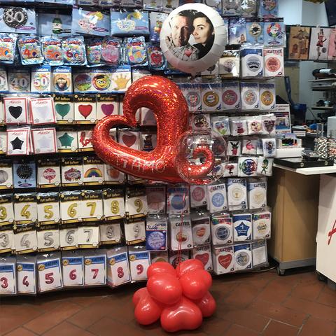 Composizione di palloncini per coppia