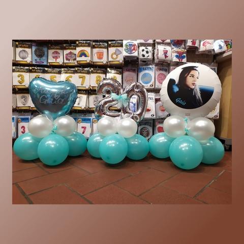 Decorazione di palloncini per centrotavola