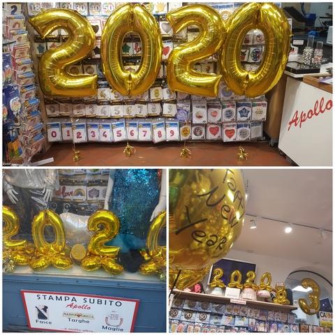 Decorazione di palloncini per capodanno