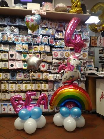 Decorazione di palloncini a tema unicorno