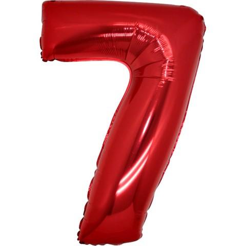 Palloncino a forma di numero 7 rosso