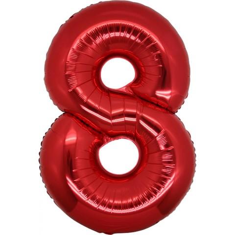 Palloncino a forma di numero 8 rosso
