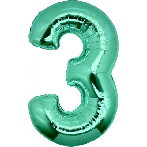 Palloncino a forma di numero 3 tiffany