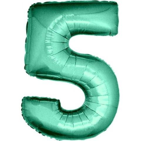 Palloncino a forma di numero 5 tiffany