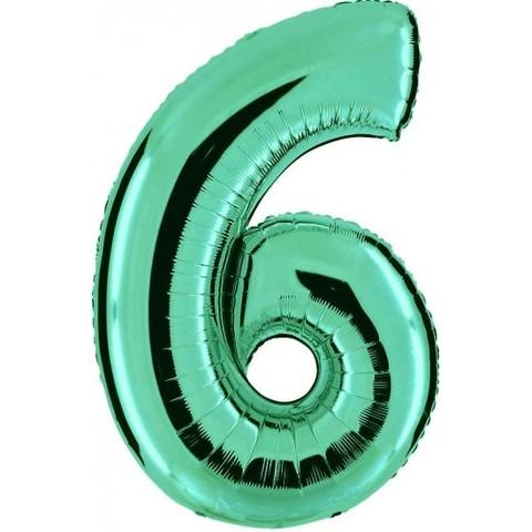 Palloncino a forma di numero 6 tiffany