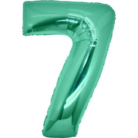 Palloncino a forma di numero 7 tiffany