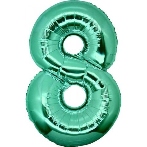 Palloncino a forma di numero 8 tiffany