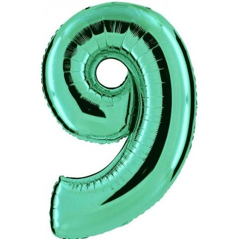 Palloncino a forma di numero 9 tiffany