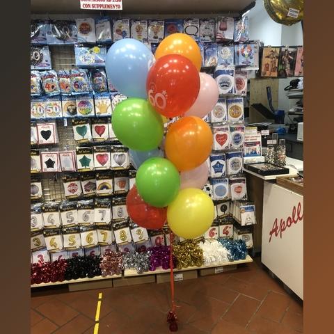 Decorazione mazzo di palloncini colorati per 60 anni
