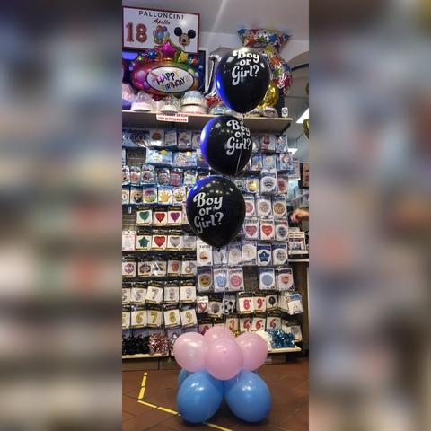 Decorazione di palloncini per baby gender reval