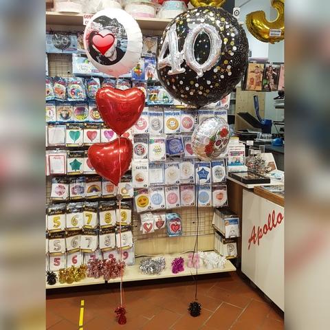 Decorazione Palloncini Per Compleanno 40 Anni Amore Coppia