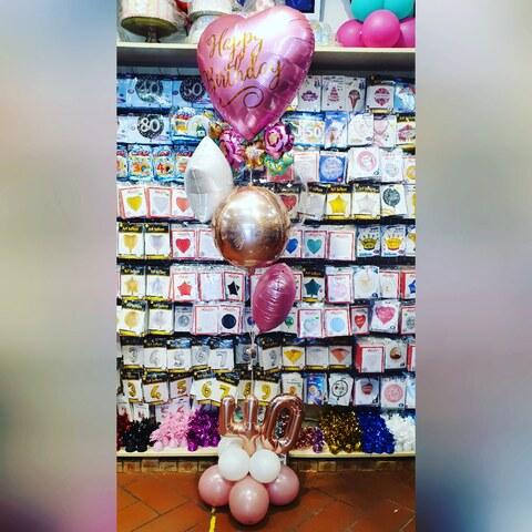 Bouquet di palloncini per donna 40enne