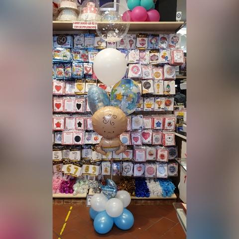 Bouquet di palloncini per nascita bambino