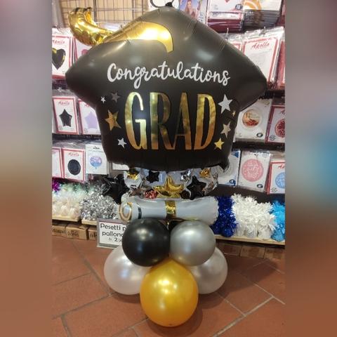 Decorazione Di Palloncini Per Laurea E Diploma