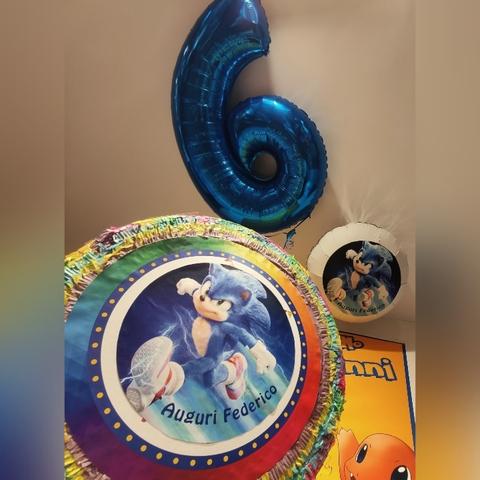 Palloncini E Pinata Per Compleanno A Tema Sonic