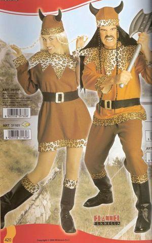 Vestito di carnevale vichingo e vichinga