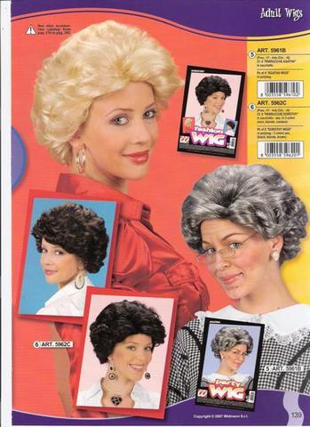Parrucca da nonna anziana