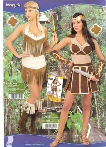 Vestito di carnevale amazzone