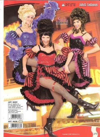Costume di carnevale ballerina can-can