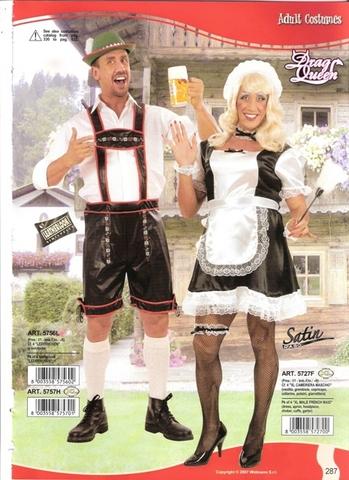 Vestito di carnevale bavarese e cameriera