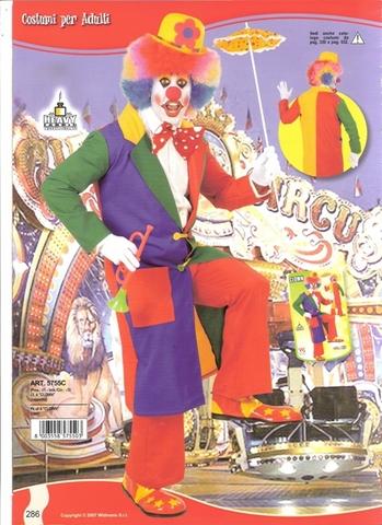 Costume di carnevale clown e pagliaccio