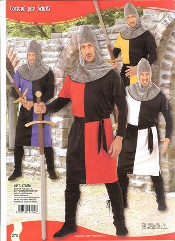 Costume di carnevale cavaliere crociato