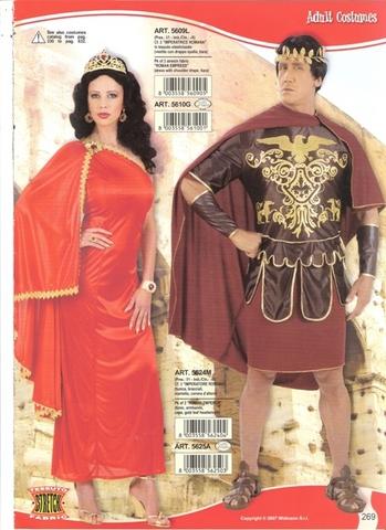Vestito di carnevale imperatore e imperatrice romani
