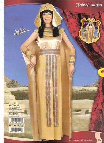 Vestito di carnevale nefertiti