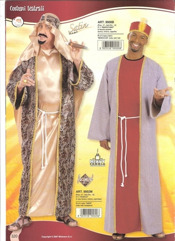 Vestito di carnevale sceicco arabo emiro