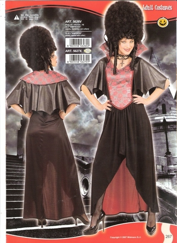 Costume di carnevale vampiressa