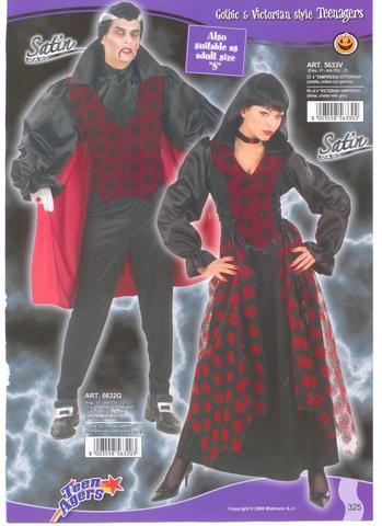 Vestito di halloween vampiro e vampiressa