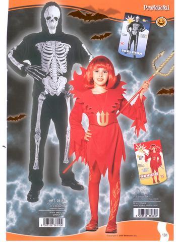 Vestito di halloween scheletro fluorescente