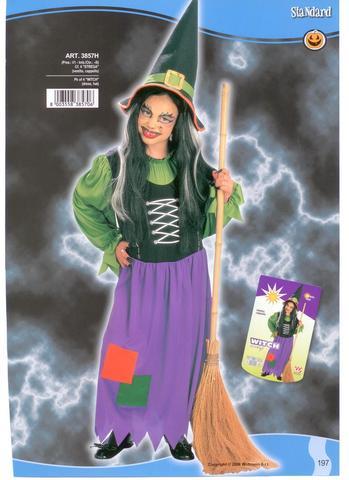 Vestito di halloween streghetta
