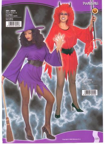 Costume di halloween strega e diavolessa
