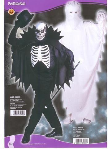Costume di halloween scheletro e fantasma