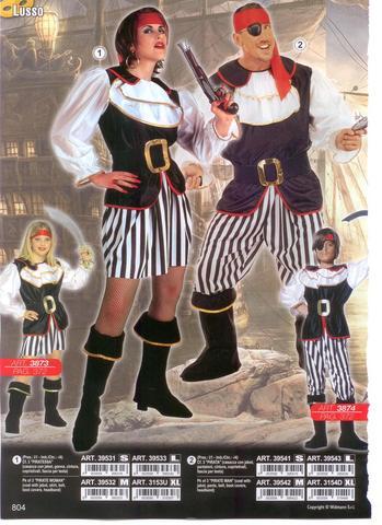 Costume carnevale pirata e piratessa